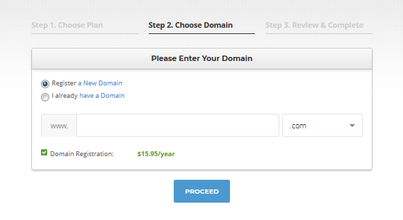 how to buy domain and hosting with siteground